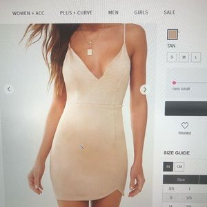 Forever 21 tan mini dress